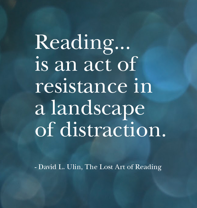 Reading is an act of resistance