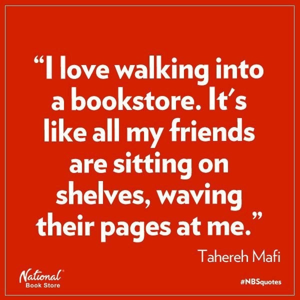Walking into a bookstore