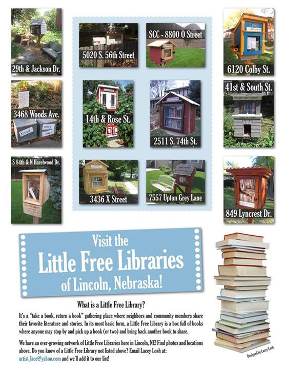 Little Free Libraries on Lincoln, Nebraska